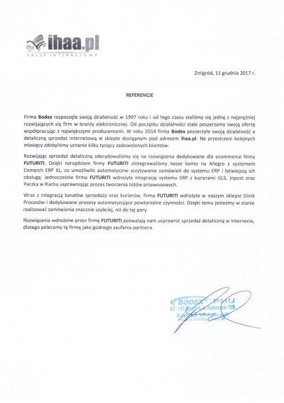 Referencje Bodex Ihaa.pl
