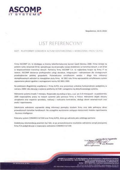 ASCOMP Referencje